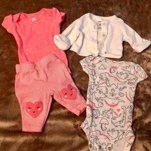 Newborn Girl Outfit Set